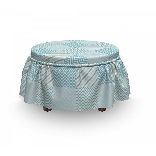 Buy Cheap Polka Dots Lines Ottoman Slipcover (Set Of 2)