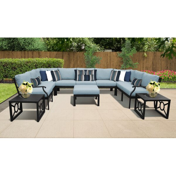 Madison Ave. 12 Piece Sectional Seating Group with Cushions by Darby Home Co