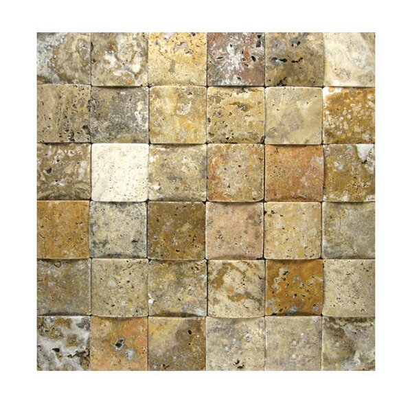 3D Honed 2 x 2 Natural Stone Mosaic Tile in Fantastico by QDI Surfaces