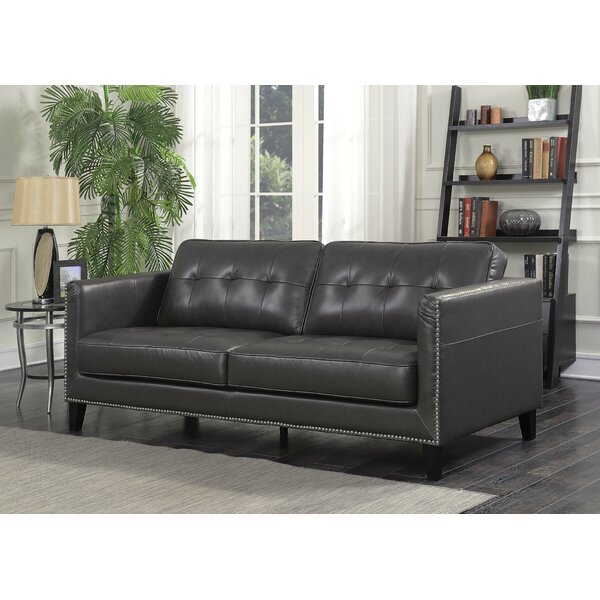 Large Selection Glen View Leather Standard Sofa by Red Barrel Studio by Red Barrel Studio