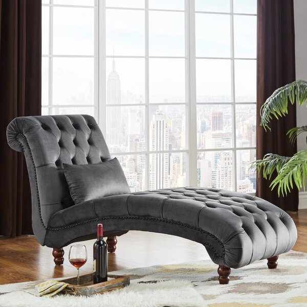 Sagebrush Tufted Chaise Lounge by Three Posts
