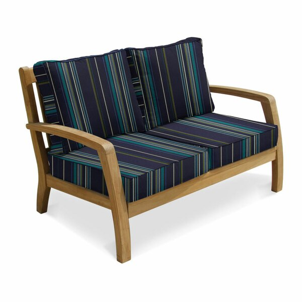 Ortega Deep Seating Loveseat by Rosecliff Heights
