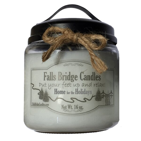 Home for the Holidays Scented Jar Candle by Falls Bridge Candles