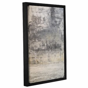 'Stone Abstract II' Framed Graphic Art Print on Canvas by Wade Logan