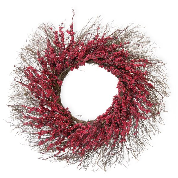 Twigs and Berries 24 Plastic Wreath by The Holiday Aisle