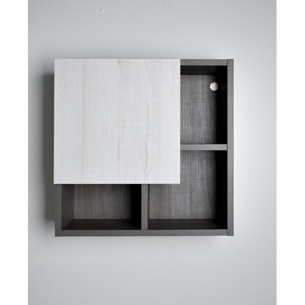 Laverriere 19.7 W x 19.7 H Surface Mount Frameless Medicine Cabinet with 4 Shelves