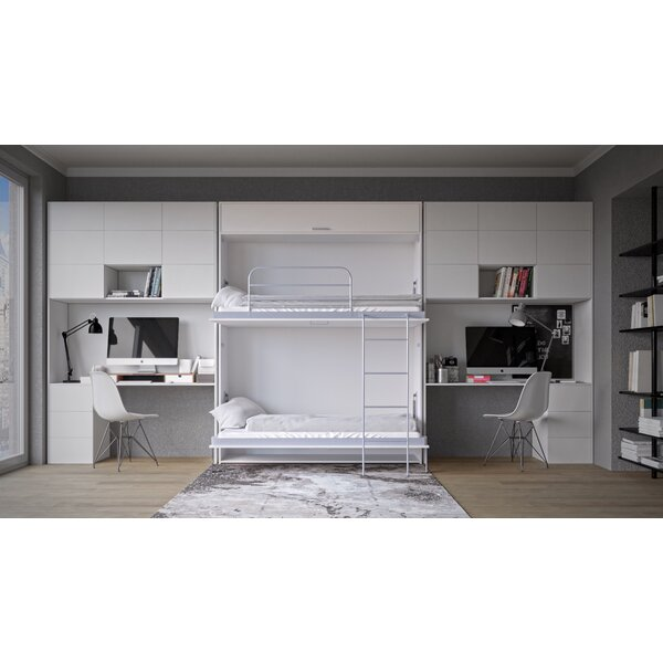 Corey Twin Murphy Bed with Mattress by Alwyn Home