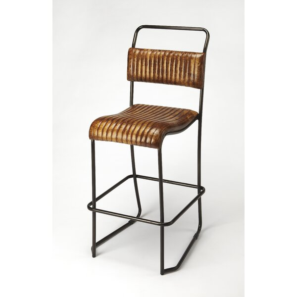 Adelheid Leather 31 Bar Stool by 17 Stories