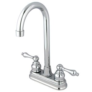 Kingston Brass Victorian Double Handle Centerset High-Arch Bar Faucet