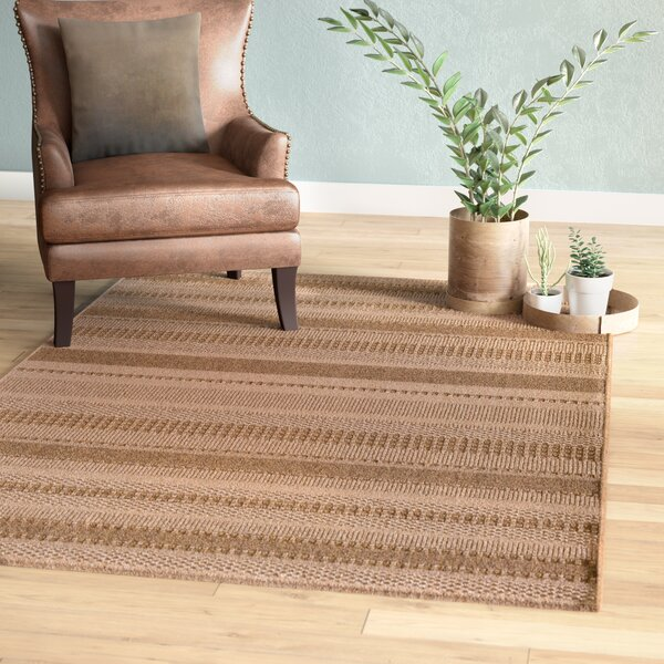 Annica Large Stripe Beige Indoor/Outdoor Area Rug by Union Rustic