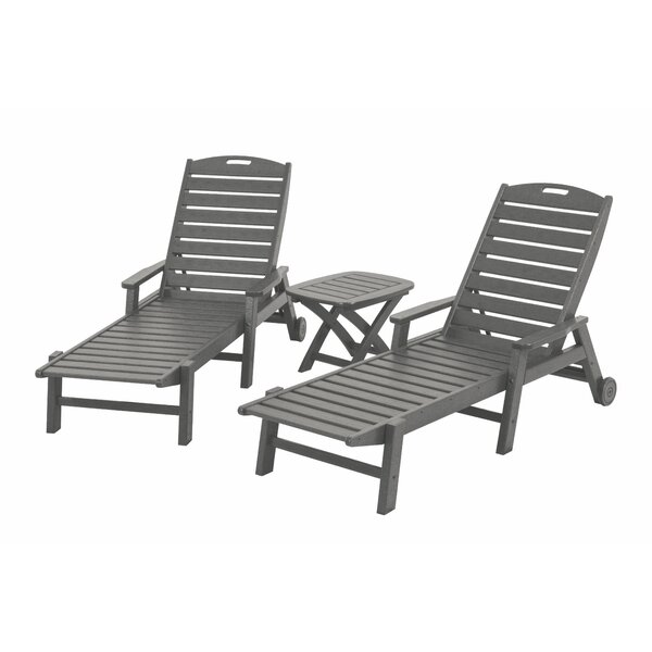 Nautical 3-Piece Chaise Set by POLYWOOD®
