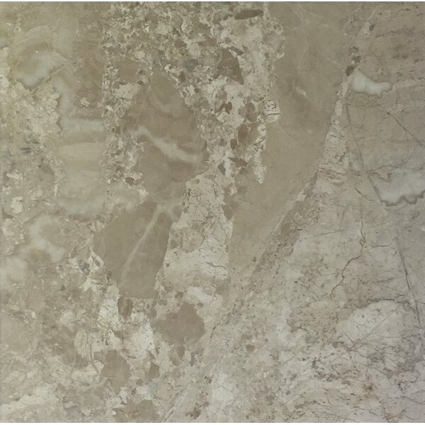 Diana Royal 6 x 6 Marble Field Tile in Beige by Seven Seas