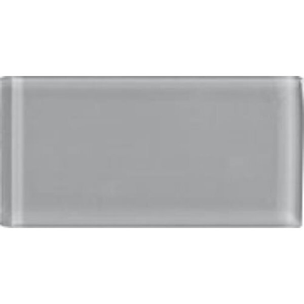Shimmer 3 x 6 Glass Subway Tile in Smoke by Interceramic