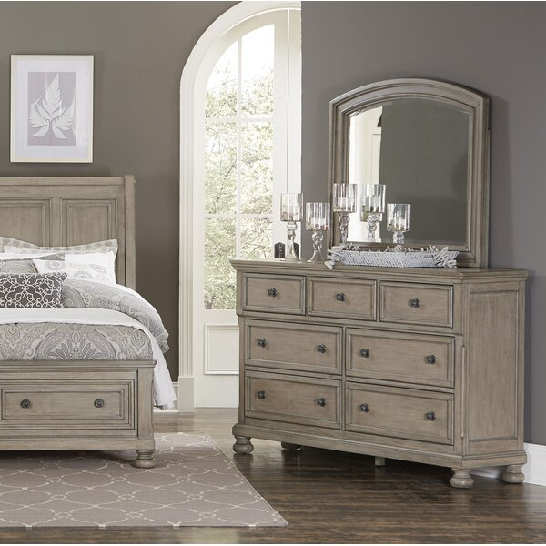 Carleton 7 Drawer Double Dresser with Mirror by Canora Grey