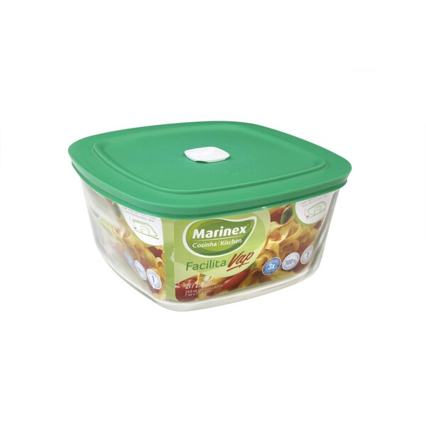 Facilita Hot Square 17 Oz. Food Storage Container by Marinex