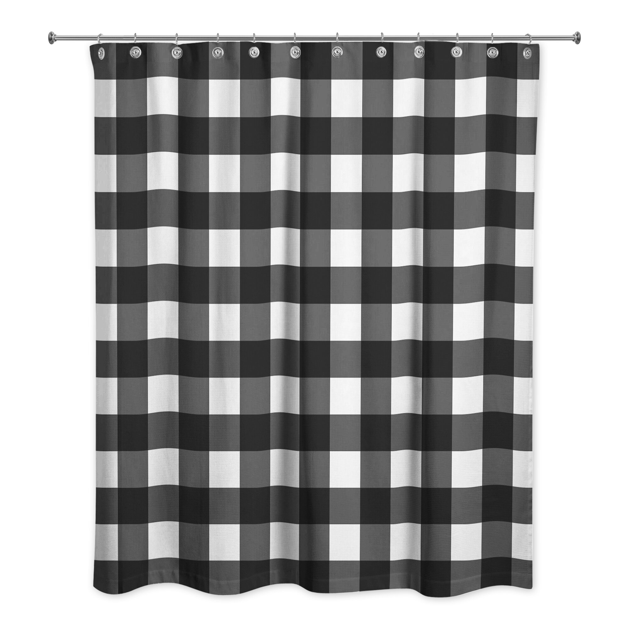 The Holiday Aisle Cornelius Buffalo Check Shower Curtain