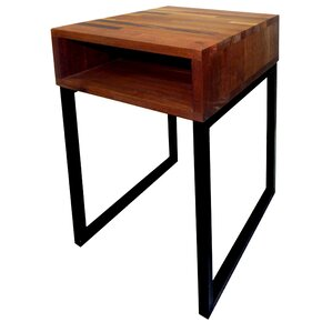 Mix Wood End Table by Nicahome LLC