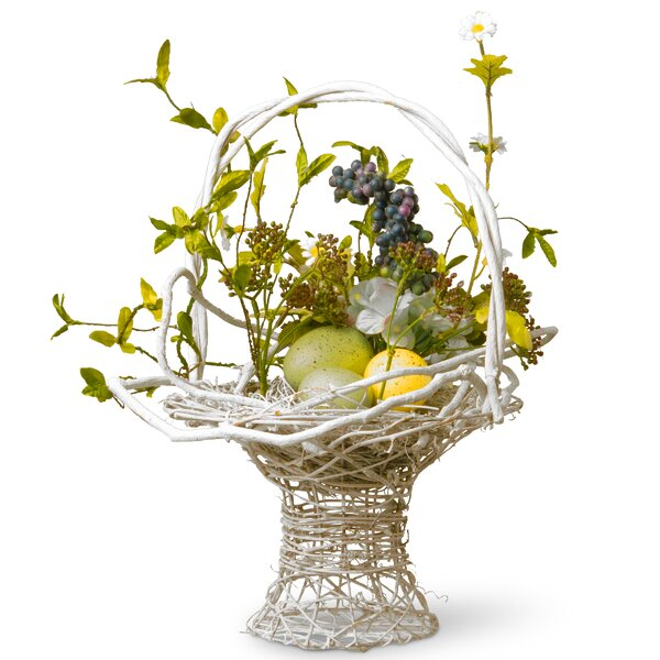 Floral Easter Basket with Egg by National Tree Co.