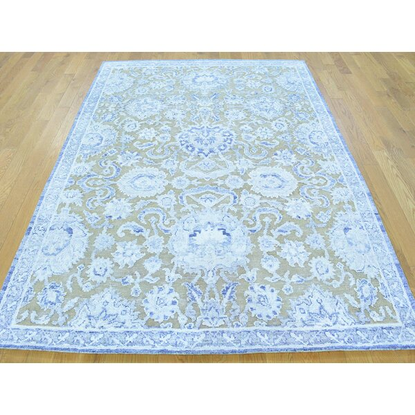 One-of-a-Kind Blankenship Hand-Knotted Gray Wool Area Rug by Isabelline