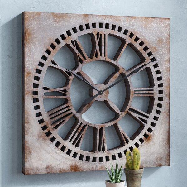 Oversized Galvanized Clock by Trent Austin Design
