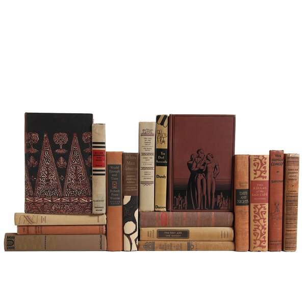 Authentic Decorative Books - Custom Set Midcentury Graphic Book Set, Set of 17 by Booth & Williams