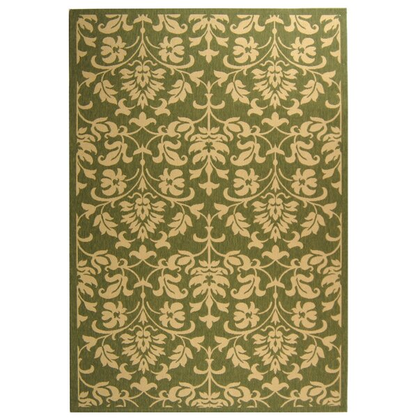 Bexton Natural/Olive Indoor/Outdoor Area Rug by Alcott Hill