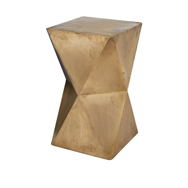 Sheraton Faceted Stool with Brass Cladding by Willa Arlo Interiors