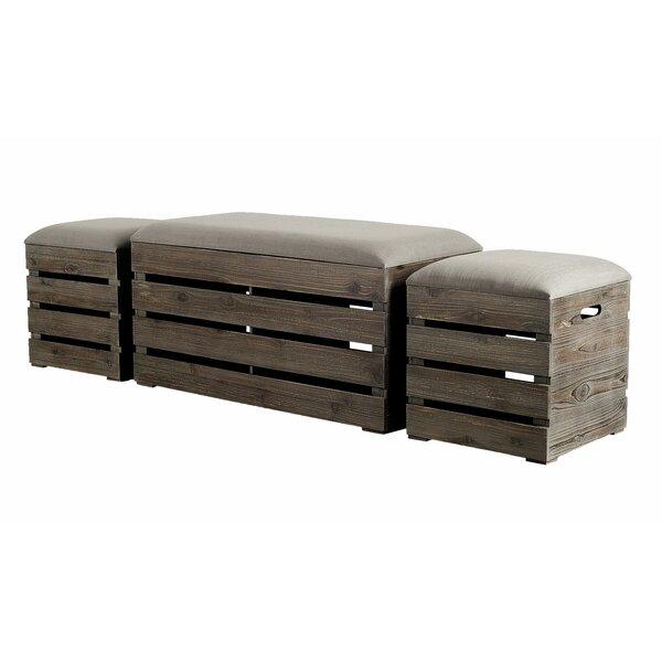 Admiranda 3 Piece Upholstered Storage Bench Set by Gracie Oaks