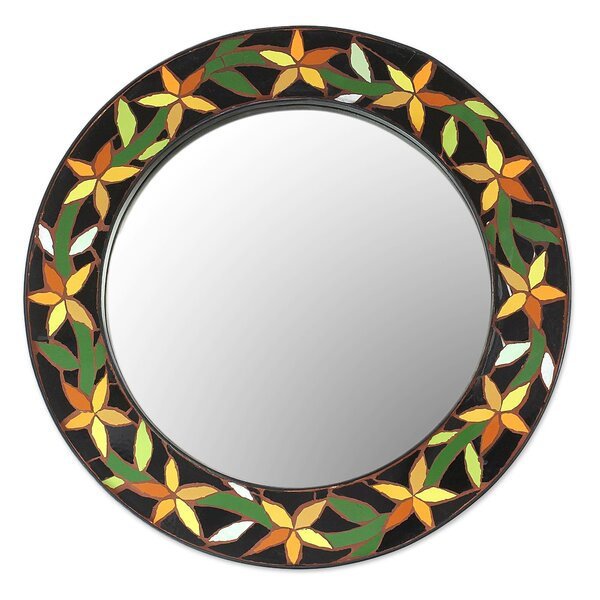 Fair Trade Indian Mosaic Ceramic Wall Mirror by Novica
