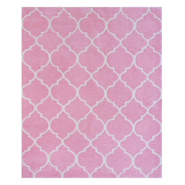 Nottingham Hand-Woven Pink Area Rug by Kid's Company