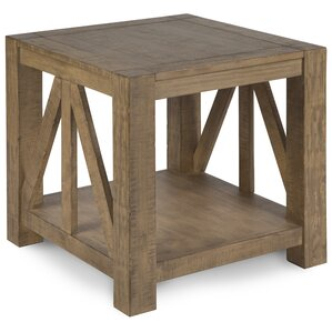 Felisha Wood End Table by 17 Stories