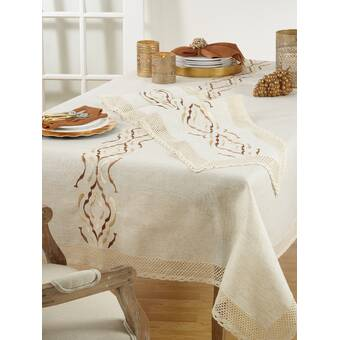 Bungalow Rose Surya Woven Peshtemal Cotton Turkish Hammam Tablecloth