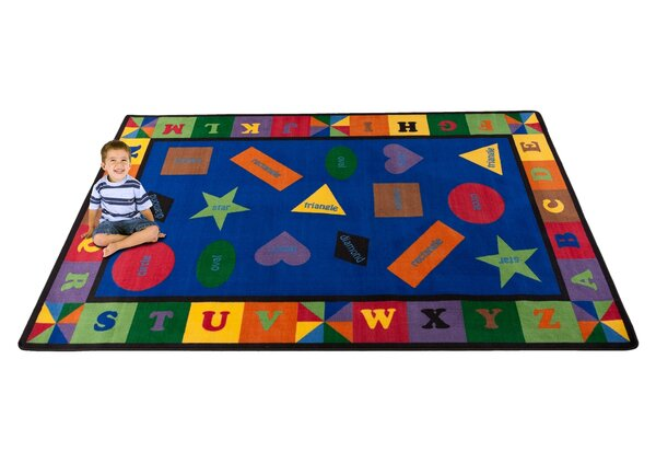 Colorful Shapes Area Rug by Kid Carpet