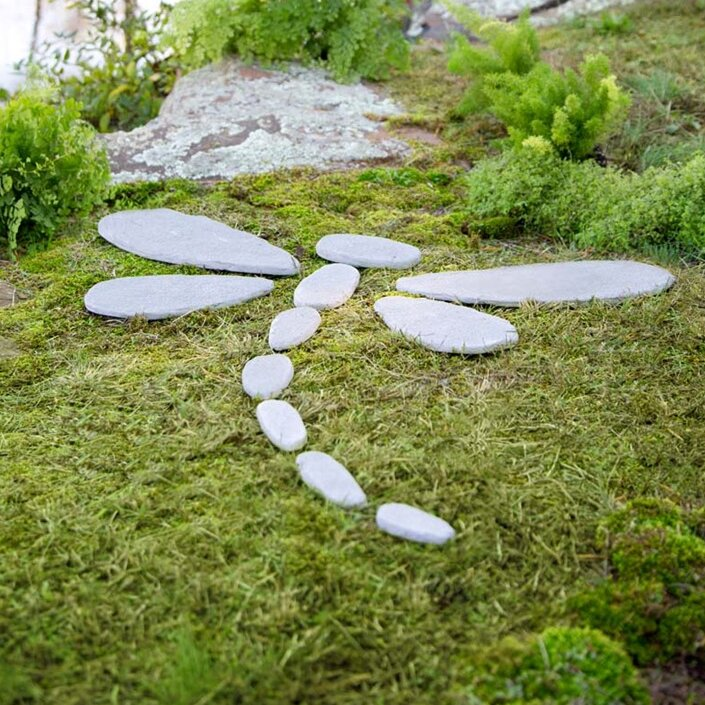 decorative stones dragonfly stepping stone - Decorative Stepping Stones