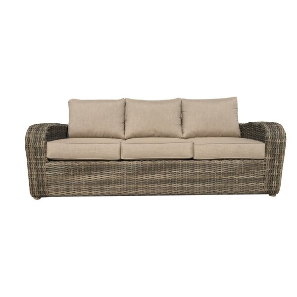 Desalvo Patio Sofa with Sunbrella Cushions by Highland Dunes