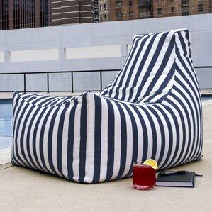 Juniper Outdoor Striped Bean Bag Lounger by ..