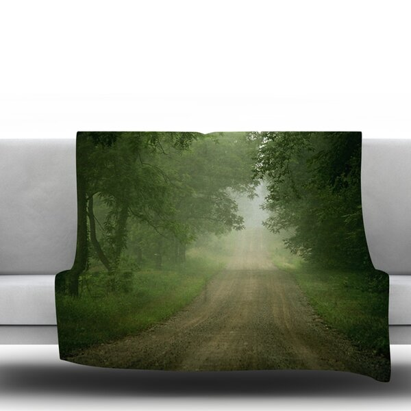 Foggy Road by Angie Turner Fleece Throw Blanket by East Urban Home