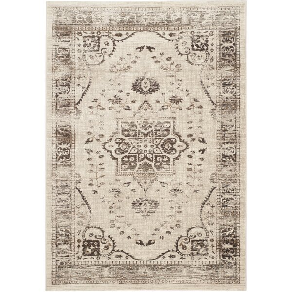Schneider Beige & Brown Area Rug by World Menagerie