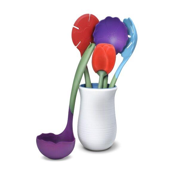 Flora Plastic Kitchen Utensil Set by Kizmos