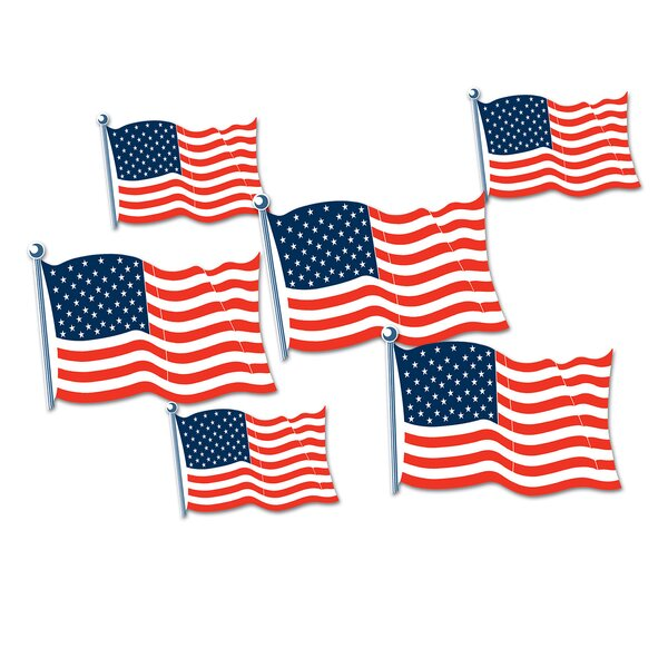 American Flag Standup (Set of 18) by The Beistle Company