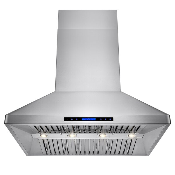 48 557 CFM Ducted Wall Mount Range Hood with Remote by AKDY