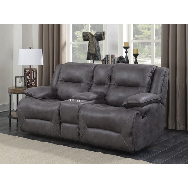 Beautiful Modern Risch Reclining Loveseat by Latitude Run by Latitude Run