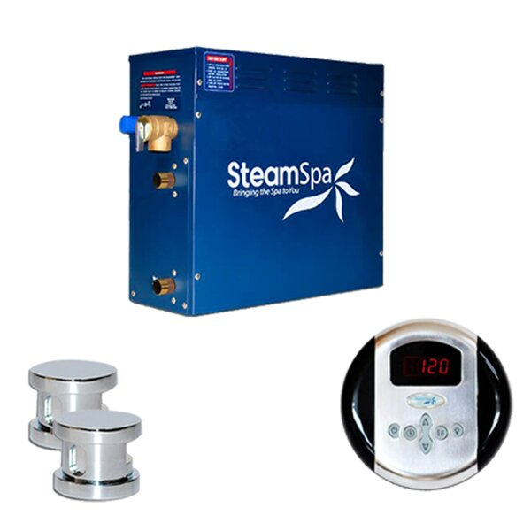 SteamSpa Oasis 12 KW QuickStart Steam Bath Generator Package by Steam Spa