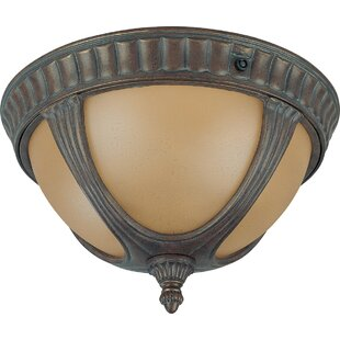 Purchase Broadnax 2-Light Outdoor Flush Mount By Fleur De Lis Living