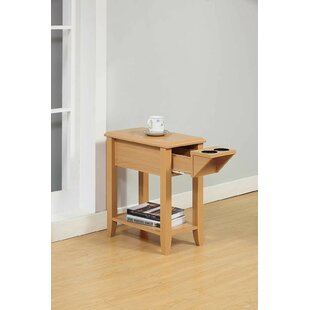 Coupon Tollett Chairside End Table with Storage ByRed Barrel Studio