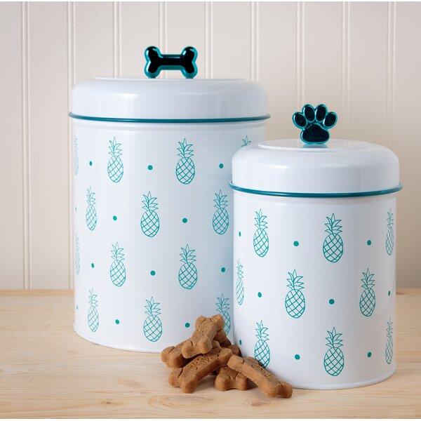 Pineapple 140 qt. Pet Treat Jar by Tucker Murphy Pet