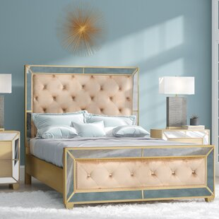 shop furniture queen on marisalla king mirrored glam beige silver contemporary amazing bed america champagne of cal deal