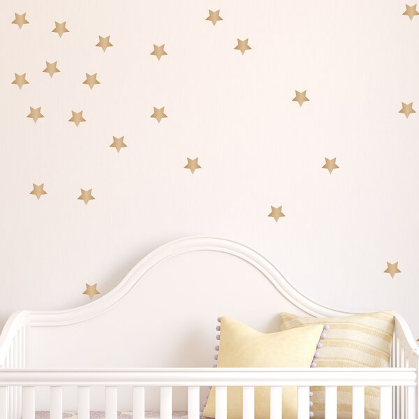 Gold Star Wall Decal (Set of 50) by Davis Vinyl Designs