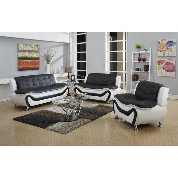 Herron 3 Piece Living Room Set by Orren Ellis