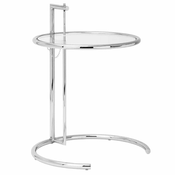 Orman Adjustable Height End Table With Tempered Glass Top By Orren Ellis